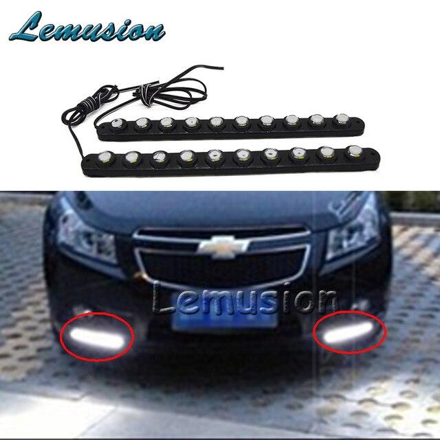 2X 10 LED Car Daytime Running Light 12V DRL Lamp For Volkswagen VW Polo  Golf 4