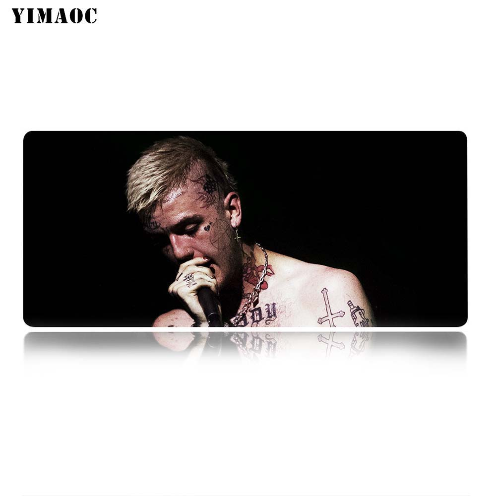 YIMAOC Lil Peep Gustav hr Lil Bo Peep Mouse Pad 30x80 cm Computer Mousepad Anti slip Natural Rubber Gaming Mouse Mat in Mouse Pads from Computer Office