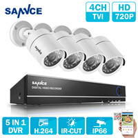SANNCE 8CH CCTV Camera System 1080N HD CCTV Set 1 0MP 720P Surveillance Camera IR Indoor