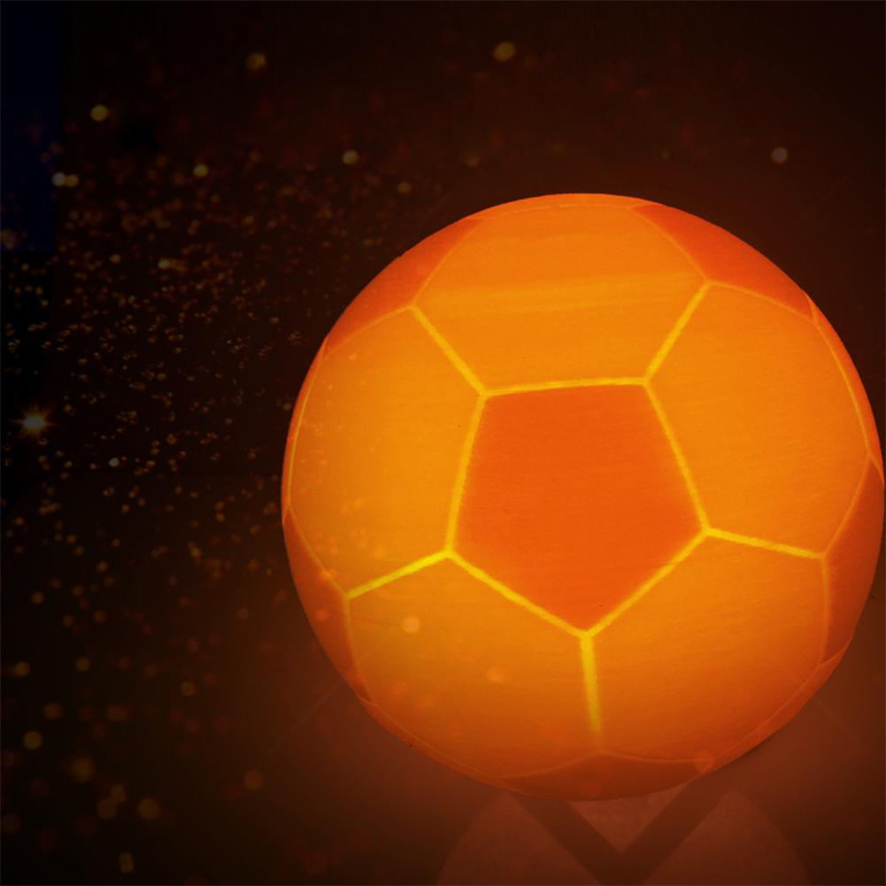 LumiParty 3D Print Molding Colour-changing Football Lamp Touch Switch Decoration Pat Lamp