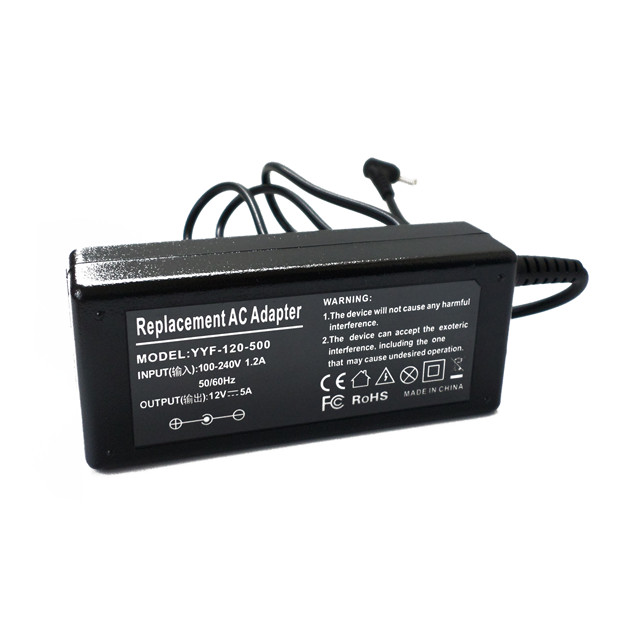 <font><b>12</b></font> Volt 5 <font><b>Amp</b></font> (<font><b>12V</b></font> 5A) DC <font><b>Supply</b></font> AC <font><b>Power</b></font> Cord Adapter Charger LCD New image