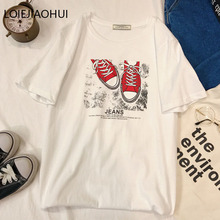 LOIEJOHHI Short Sleeve T Shirt New Arrivals summer Women s T shirt Simple Casual Loose fashion