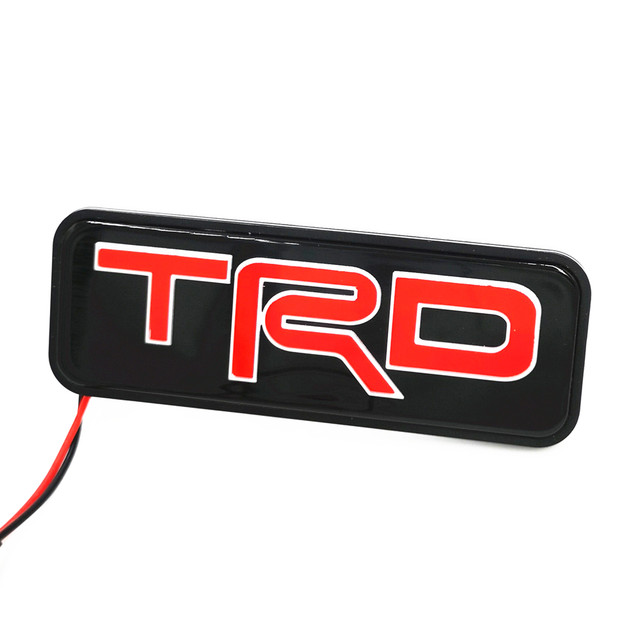 online shop yixinyou 3d led trd racing logo badge emblem light for rh m aliexpress com trd racing logo vector TRD Racing Products