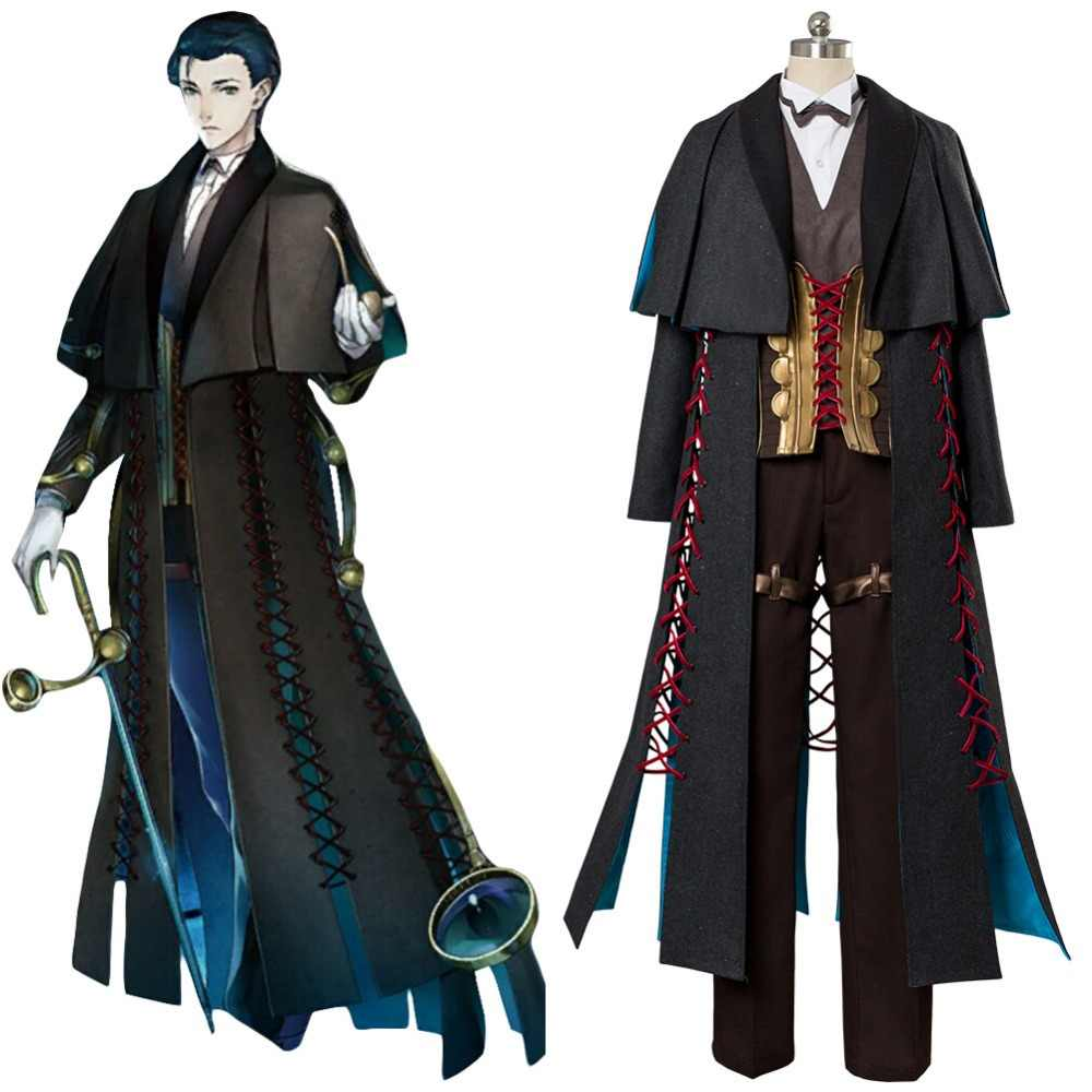 Fate Grande Ordine Cosplay Sherlock Holmes Cosplay Costume Adulto Uomini Donne Costume Cappotto Uniforme Costume di Halloween