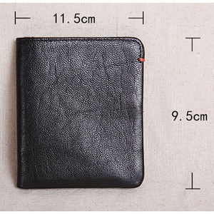 Image 5 - AETOO Wallet mens short leather super thin youth first layer cowhide handmade simple soft leather wallet vertical mini wallet