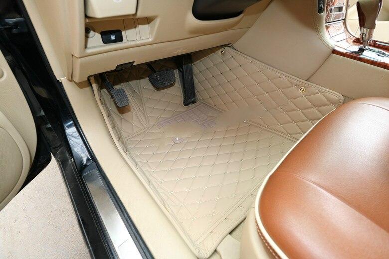 Tapis de sol spécial HZHZQX personnalisé pour Toyota Crown Alphard Hiace Land Cruiser Prado Tundra FJ Cruiser tapis imperméable 5 places