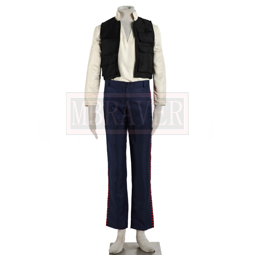 Star Wars 7 The Force Awaken the Rebel Alliance General Han Solo Cosplay Costume Custom Made Any Size