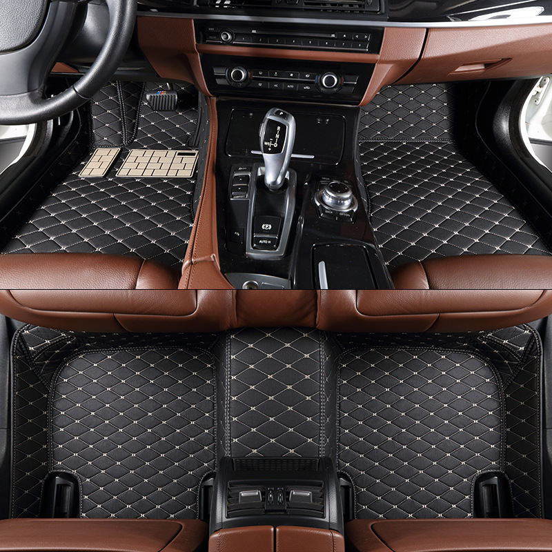 Car Leather Waterproof Floor Mats for Alfa Romeo Giulia Giulietta Custom Fit Car Carpet 2114 Alfombra Coche Alfombrilla Coche