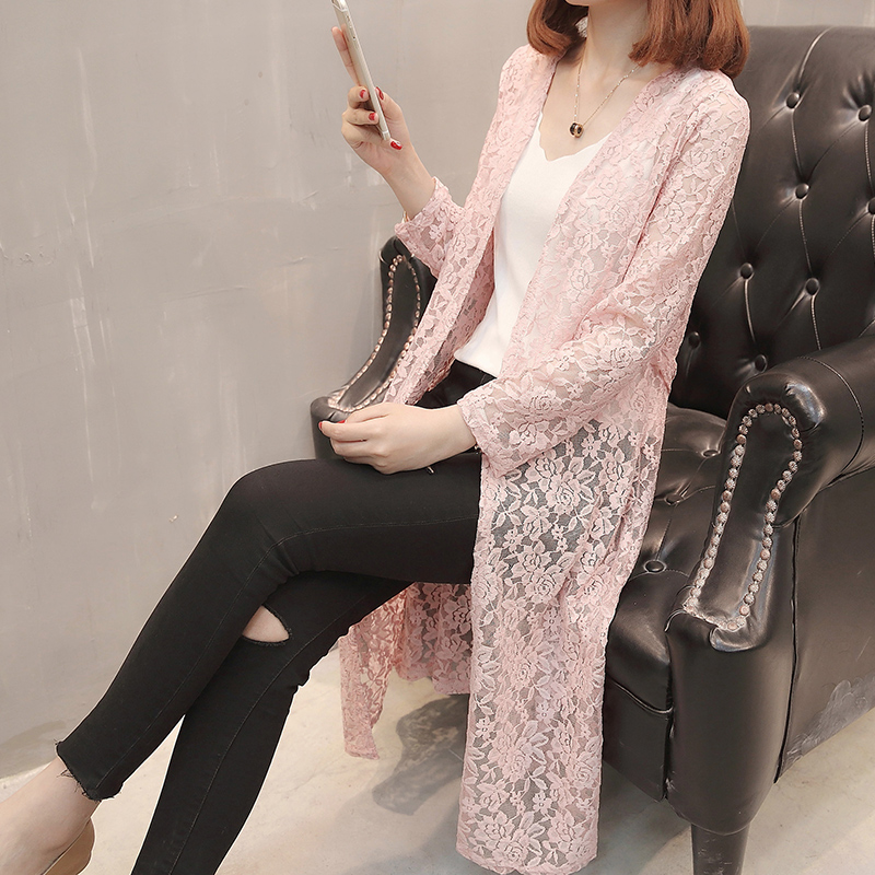 7279 - new long waist lace lace knitted cardigan 35 ...