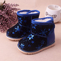 Winter New Boys Girls Snow Boots Children Thicken Plush Baby Kids Warm Boots Waterproof Kids Shoes Camouflage