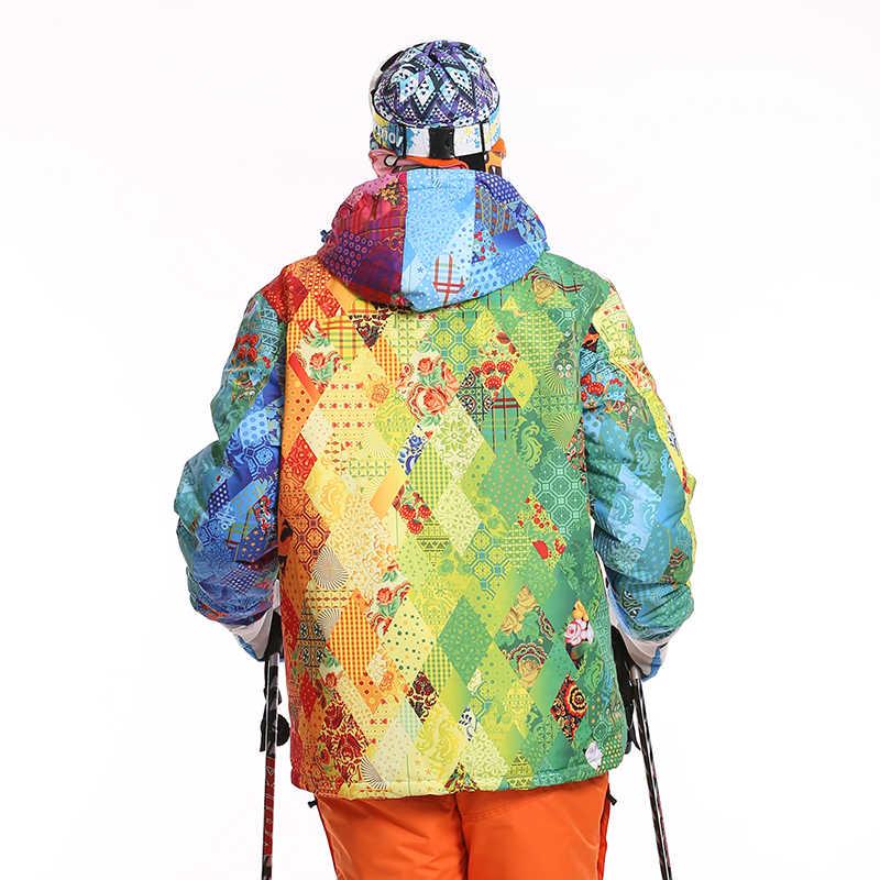スキージャケット男性防水防風熱厚みコートハイキングキャンプ登山雪スノーボード冬のジャケットの男性