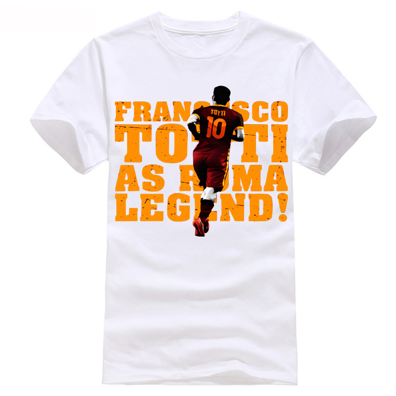 Old man Totti Roma Legend T-Shirt player footballer european programs games NO.10 golden soccersing man