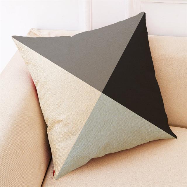 2019 Pillow  4A145 Home Decor Cushion Simple Geometric Throw Pillowcase Pillow Free Shipping NEW B1