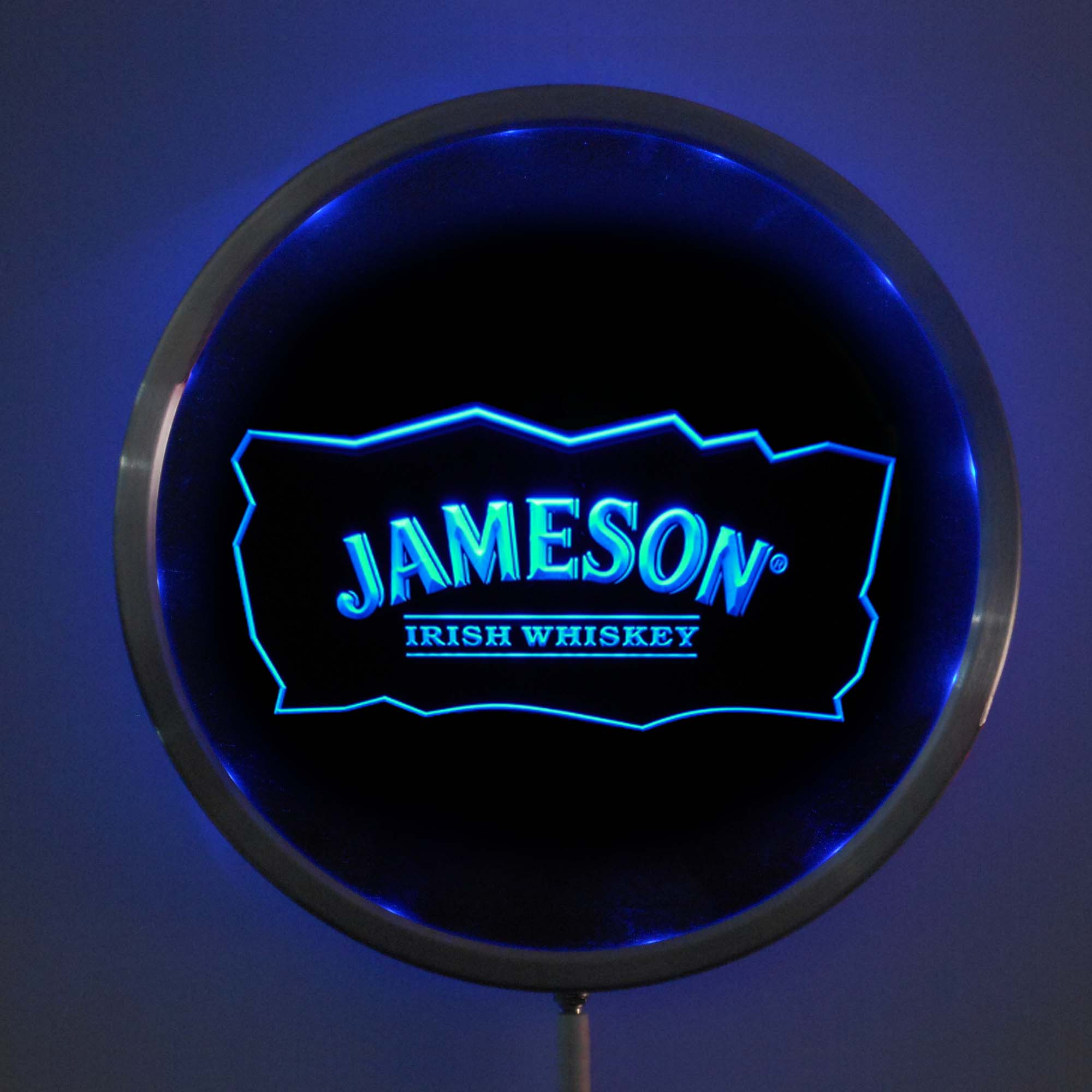 rs a0159 Jameson Whiskey LED Neon Round Signs 25cm/ 10