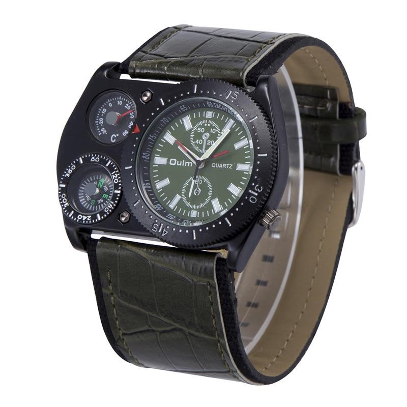 Oulm Reloj de pulsera deportivo Hombres Reloj militar de cuarzo de - Relojes para hombres - foto 6