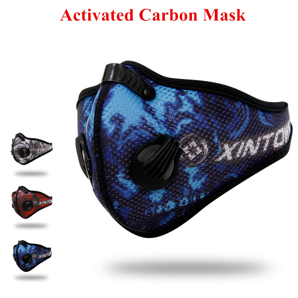 Fashion PM2.5 Dust Mesh Cloth Mask Cycling Respirator Activated Carbon Breathable Filter Outdoor Running Protection Face Mask outdoor cycling half face mask dust windproof anti pollen allergy activated carbon masks filter sports riding running lcc