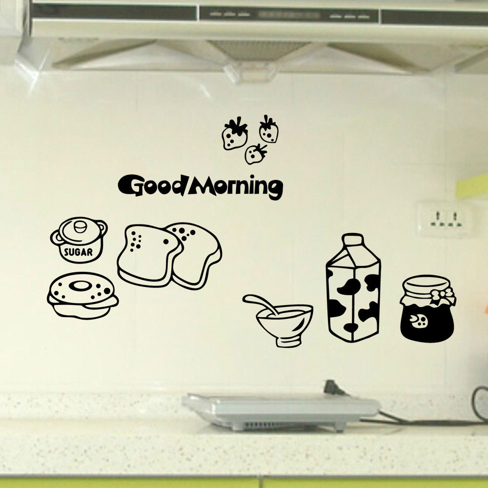 2018 New Kitchen Letter Removable Wall Stickers Mural Decal Home Decor Wall Sticker For Dining Room Kitchen Wall Arts