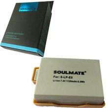 SOULMATE LP-E5 комплект литиевых батарей LPE5 цифровой Камера Батарея LP E5 для цифровой однообъективной зеркальной камеры Canon EOS 450D 500D 1000D поцелуй X2 X3 F Rebel XS XSi