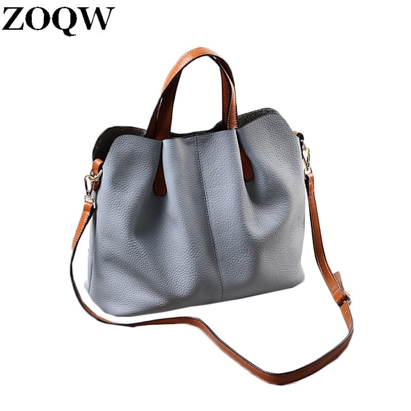 Luxury Handbags Women Bags Designer 2017 New Genuine Leather Bags Ladies Fashion Shoulder Bags Composite Bolsa Feminina LX711