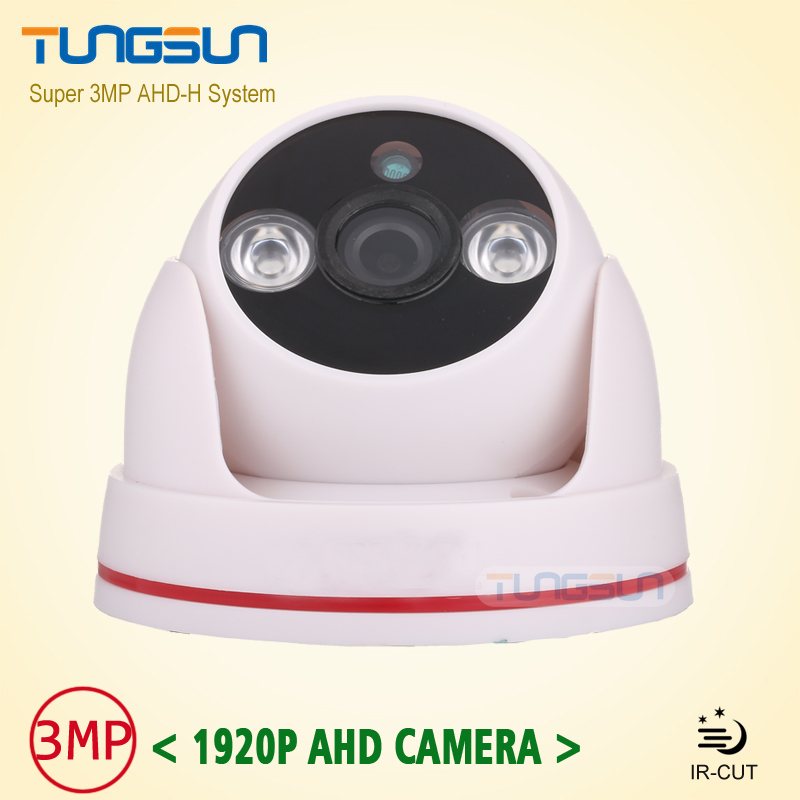 New Arrival Super 3MP HD 1920P AHD Camera Security CCTV White indoor Dome Video Surveillance 2*Array infrared AHD-H System new home 2mp hd ahd 1080p camera security cctv white dome 2pcs array infrared night vision surveillance camera ahd h system