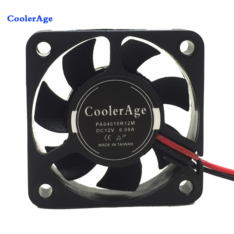 CoolerAge 10Pieces/Lot Cooler 40 x 40 x 10mm 4010s DC 2Pin 12V 40mm Computer Cooling Fan 4 channel video optical converter fiber optic video optical transmitter receiver 4ch rs485 data ahd cvi tvi cvbs coaxial fiber