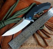 Black Color Tactical Folding Knife D2 Blade G10 Handle Blue Moon EDC Hand Tools Outdoor Camping Hunting Pocket Knives