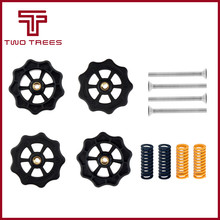 4pcs replacement Big Hand Twist Auto Leveling Nut Spring Screw kit M4 For Creality CR-10 CR-10S Mini Ender-3 3D Printer(China)