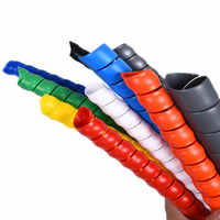 10mm/14mm Wire Storage Tube Clips Cable Sleeve Organizer Pipe Wrap Cord Protector Flexible Spiral