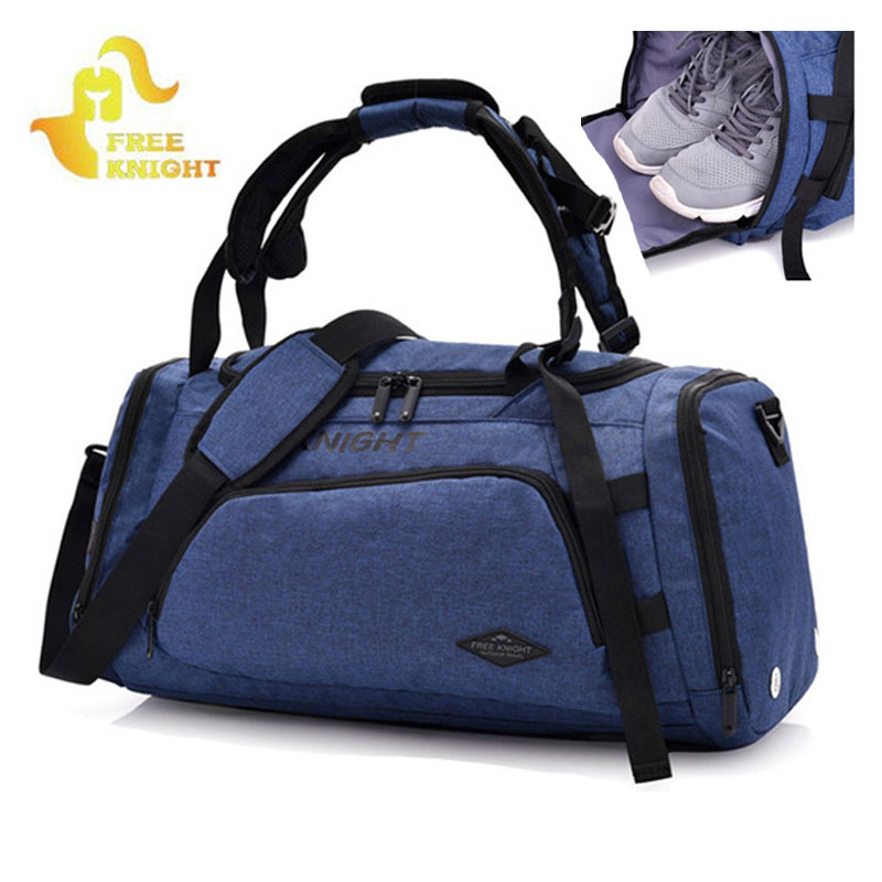 2018 New Shoulder Sports Gym Bag For Fitness With Shoes Storage and Dry Wet Separation Bag Outdoor Travel Backpack XA679WD gym bag women s bag tide shoulder yoga bag portable sports training bag dry and wet separation waterproof swimming bag