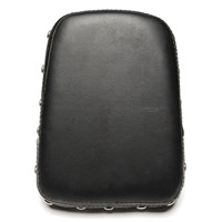 Neverland 9 25 Rivet Motorcycle Sissy Bar Backrest Cushion Pad For Harley Honda Custom Universa Black