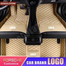Пользовательские автомобильные коврики для Porsche Cayenne 955 957 958 Macan Boxter Cayman боксер 987 981 718 Panamera 911 997 991 Carrera Роскошный Ковер