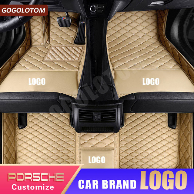 Custom car floor mats for Porsche Cayenne 955 957 958 Macan Cayman Boxer 987 981 718 Panamera 911 997 991 Carrera luxury carpet