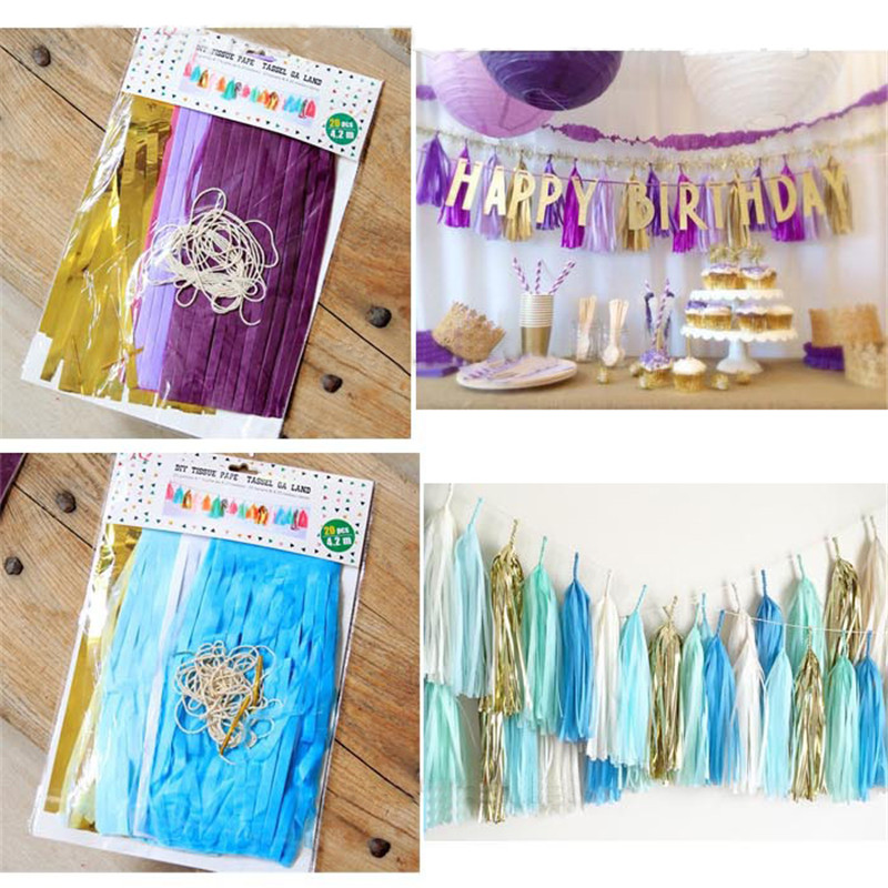 Aliexpress.com : Buy 4M Tissue Paper Tassel Garland DIY ...