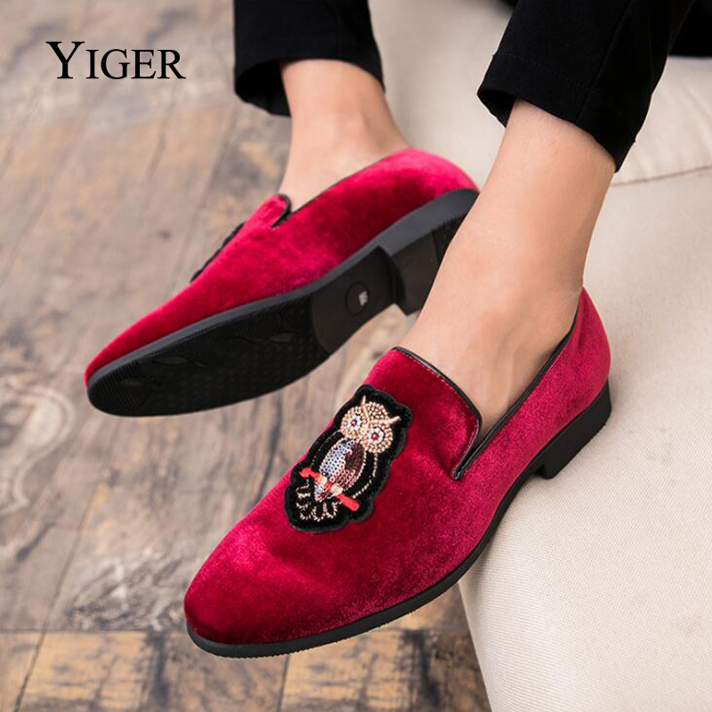 YIGER New Man Loafers Slip-on Tip Toe Peas Shoes Men Casual Cotton - Men's Shoes - Photo 5