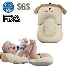 Cartoon Baby Safe Bath Mat Bathtub Infant Bath Pad Mesh Pocket Non-Slip Newborn Bath Bed Floating Cushion Infant Bathtub Mat