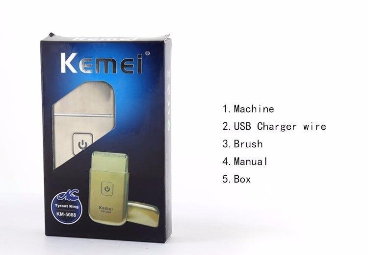 2016 hot sale kemei personal care mini usb charging cordless travel sh. Black Bedroom Furniture Sets. Home Design Ideas