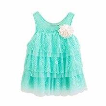infant baby girls lace dresses children clothing for autumn -summer kids princess flower tutu dress 4 colors pink cake dress