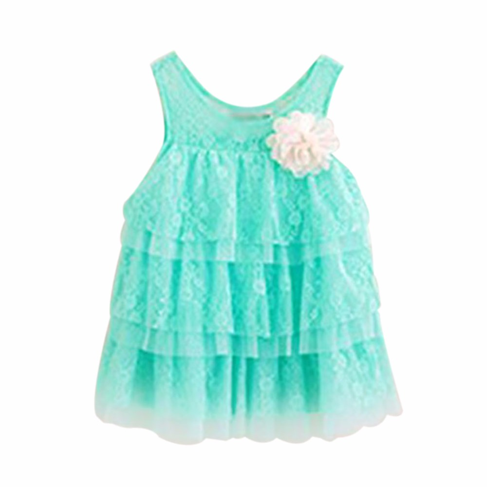 infant baby girls lace dresses children clothing for autumn -summer - Children's Clothing