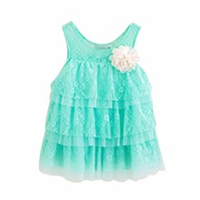 infant baby girls lace dresses children clothing for autumn -summer kids princess flower tutu dress 4 colors pink cake dress
