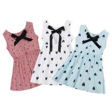 Wholesale Baby Dress Girl Retro Cotton Blend Blouse Cotton Girl Sleeveless Backless Crocheted Pattern Princess Party Dress