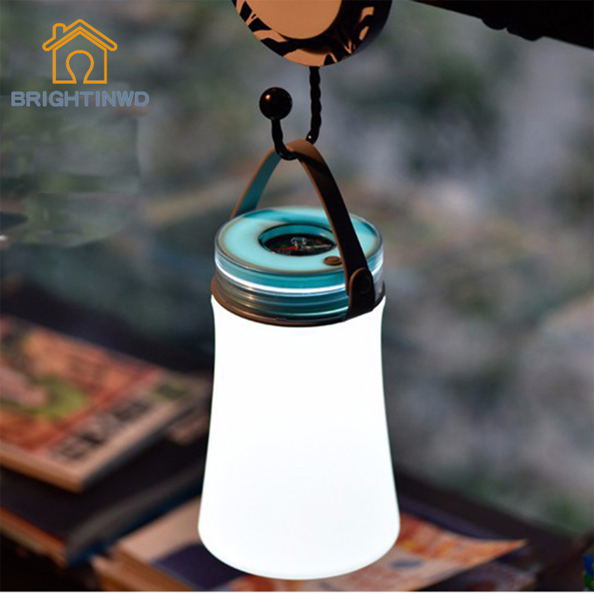 BRIGHTINWD Toys outdoor waterproof camping rechargeable lights portable lights led outdoor lights compass Camping Lantern 7356 15 led compass bivouac camping lantern light lamp travel outdoor exercise equipment with compass