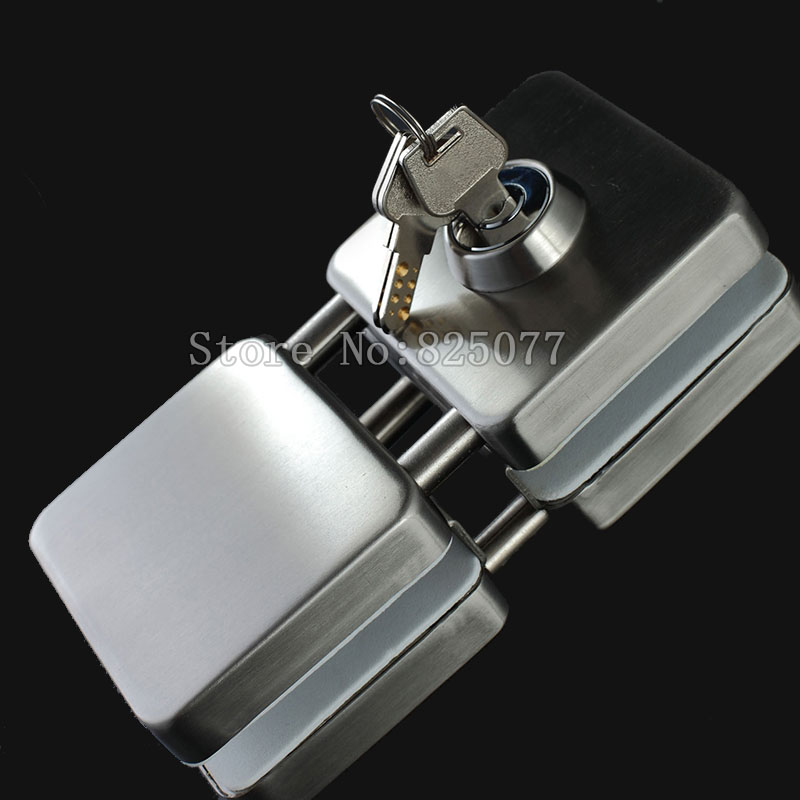 Thick reinforced Glass Door Lock,all sus304 stainless steel,No need to open holes,Frameless glass door CP408 kay highest in the world class authentic 304 stainless steel door lock 0308 lock packages sent thick smoke doors triple sheet