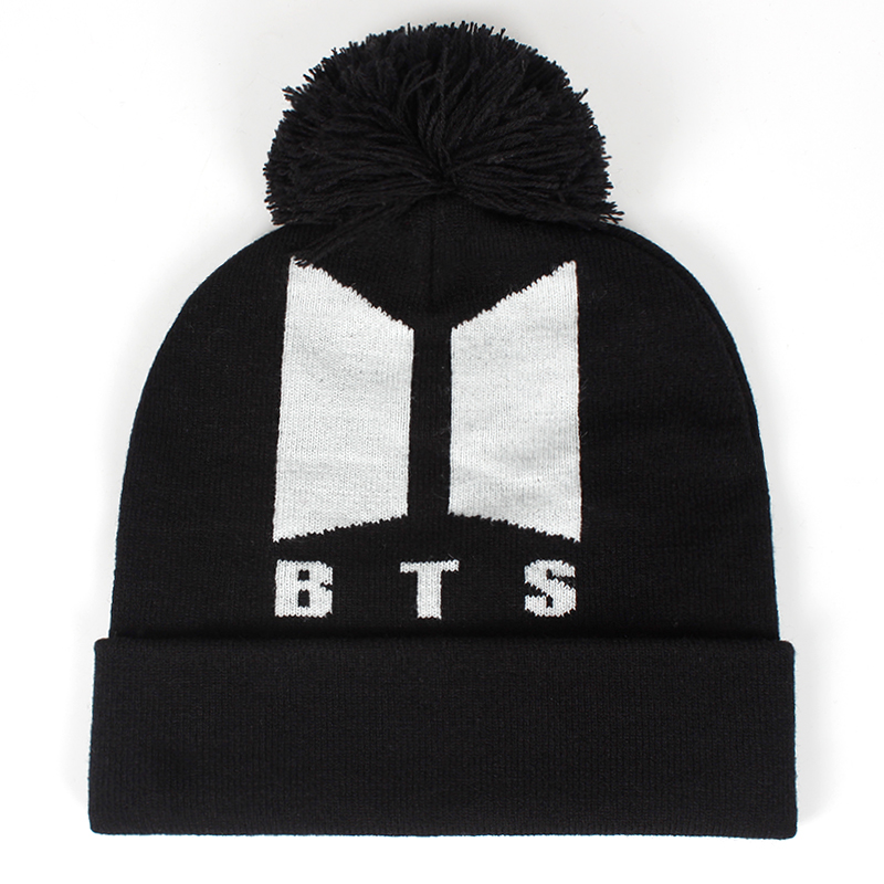 3b5a3ceaea1 2019 New BTS ARMY Beanies Knit cap Couple Winter Caps Skullie Bonnet ...