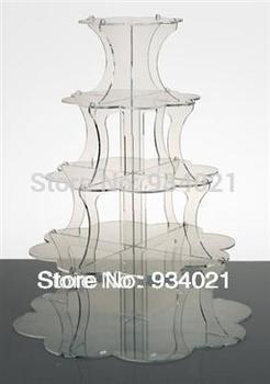 5 Tiers Acrylic Cake Stands Display Or Acrylic Cupcake Display Stand