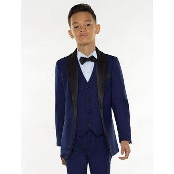 цена на child White Boy Suit Set Kids Boy Suits for Weddings Prom Suits Children Formal Dress for Boys Kids Tuxedo (Jacket+Pants+Vest)