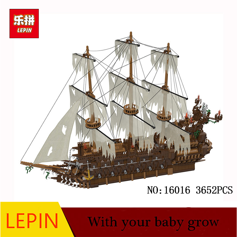 DHL Lepin 16016 3652Pcs Movies Series MOC The Flying the Netherlands Building Blocks Bricks Compatible to Children Gifts lepin 16016 3652pcs movie series flying the dutch blocks bricks toys for children compatible legoing pirates caribbean