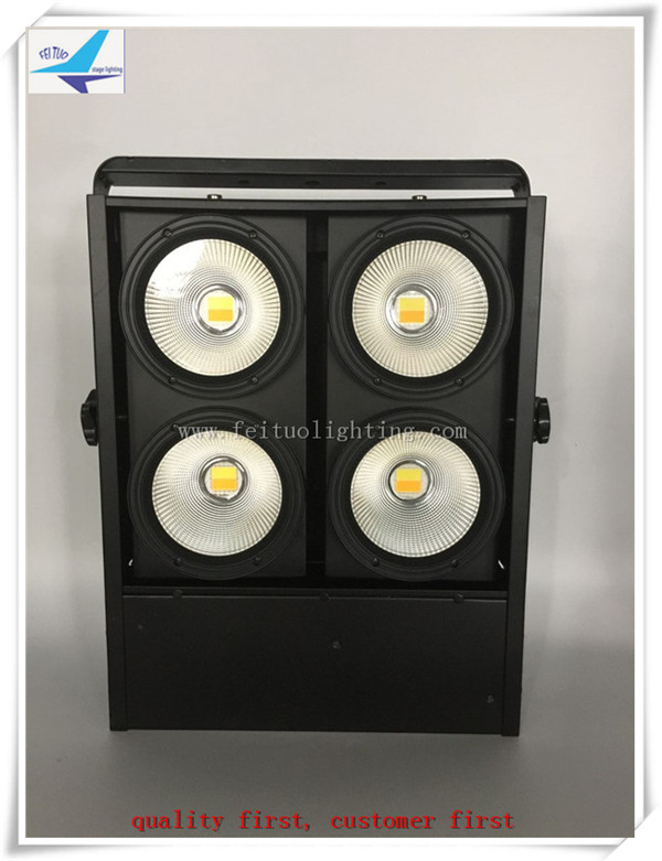 A-4/lot 4x100w COB warm white or cool white Pixel Panel Blinder Stage Light Disco Light, 4-Eyes Matrix Blinder light