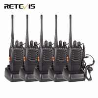 5 pièces talkie-walkie rechapé H777 UHF 400-470MHz fréquence Portable ensemble Radio jambon Radio Hf émetteur-récepteur CTCSS/DCS pratique