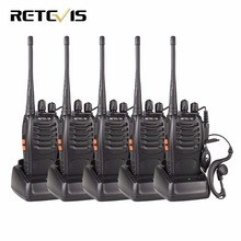 5pcs Retevis H777 Walkie Talkie 3W UHF 400-470MHz Frequency Portable Radio Set Ham Radio Hf Transceiver Handy