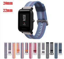 20 22mm band for samsung galaxy watch 42 46 s2 s3 Huami amazfit 2s 1 pace bip Ticwatch E pro Pebble time zenwatch nylon strap